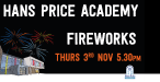 Hans Price Academy Charity Fireworks Night